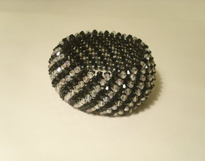 Bracciale cristallo e nero