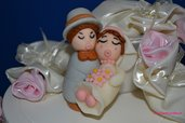 Cake Topper in pasta di zucchero per Matrimonio