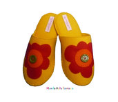 """Pantofole in feltro fatte a mano """"Fiore"""""""