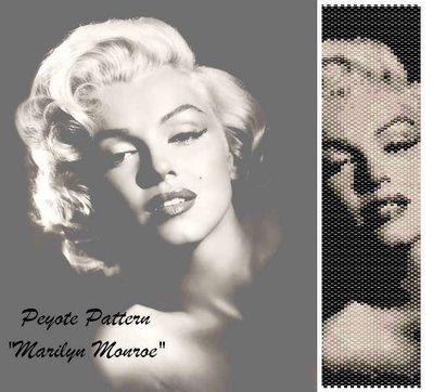 "Schema peyote per bracciale ""Marilyn Monroe"""