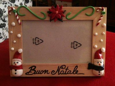 Cornice portafoto natalizia in fimo
