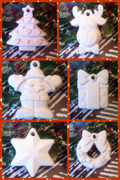 Gessi gessetti profumati decorazioni Natale