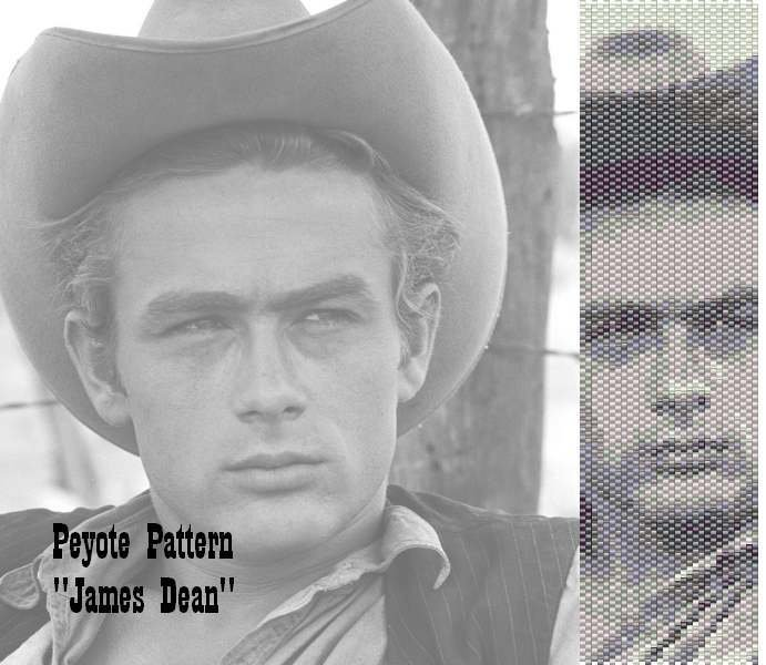 "Schema peyote per bracciale ""James Dean"""