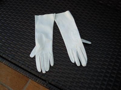 Guanti pelle bianca
