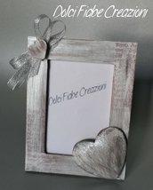 Cornice portafoto Natale argento