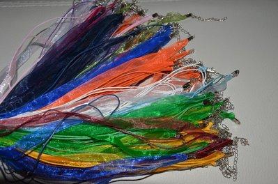 collana corda in cotone e organza