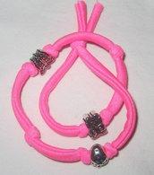 bracciale lycra rosa fluorescente