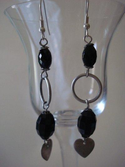 orecchini black cristal