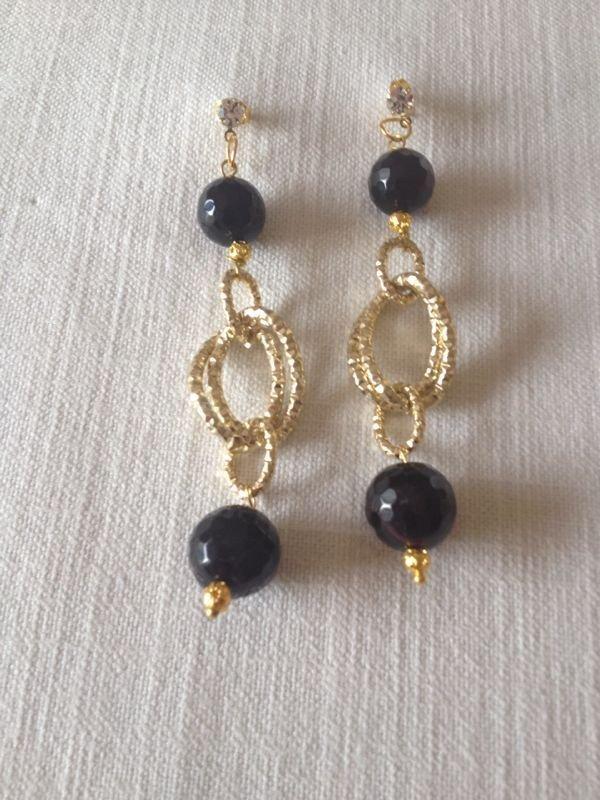 Favorito orecchini con pietre dure, agata nera - Gioielli - Orecchini - di  TS93