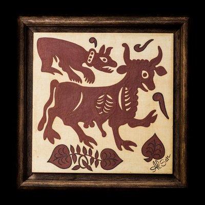 Bellissimo quadretto in ceramica dipinto a mano, tecnica Socarrat. Ottimo regalo, decarativo