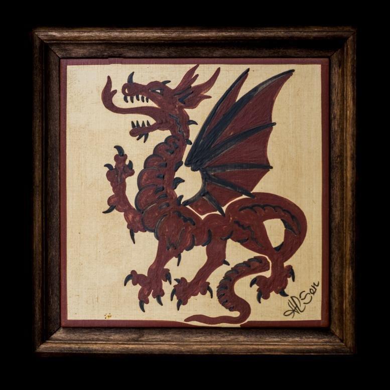 Bellissimo quadretto in ceramica dipinto a mano, tecnica Socarrat. Ottimo regalo.