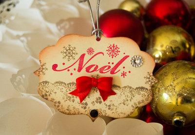 SALDI Targhette Natale 6 pezzi