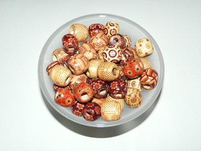 Perle in legno stampate