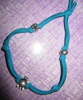 Bracciale lycra color blu zircone