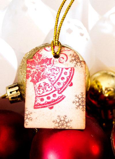SALDI  Targhette Mini per Natale 10 pezzi