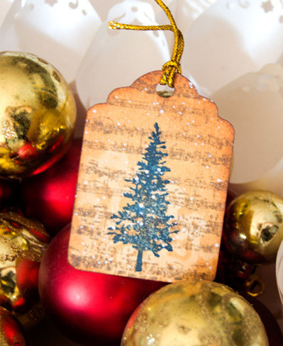 SALDI  Etichette Natale 6 pezzi