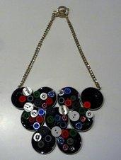 Coffee Buttons necklace - Collana con cialde Nespresso e bottoni