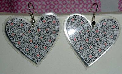 Paper&plastic earrings