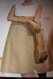 Cartamodello bellissimo vestito abito modello stile Audrey in lana cotta