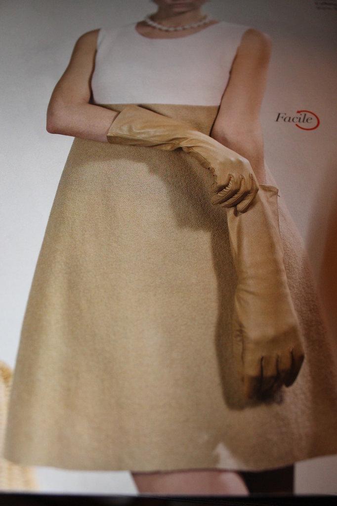 Molto Cartamodello bellissimo vestito abito modello stile Audrey in lana  NT72