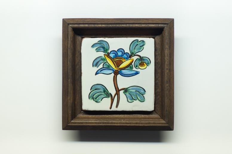 Bellissimo quadretto in ceramica dipinto a mano, tecnica Cuerda seca ed il lustro. Ottimo regalo.