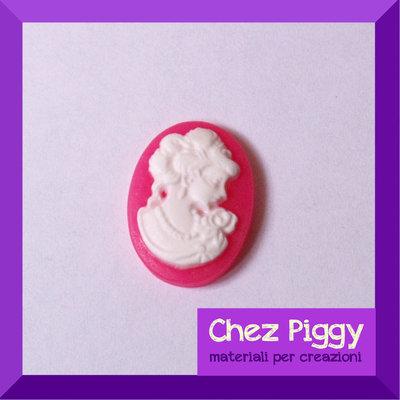 1 x Cameo resina Pink