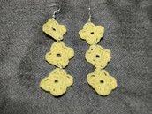 orecchini stile Cruciani gialli pendenti