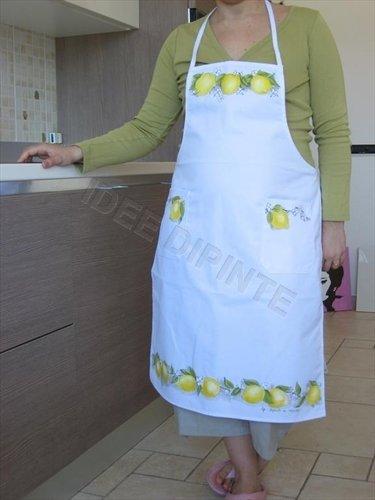 Grembiule dipinto - Limoni