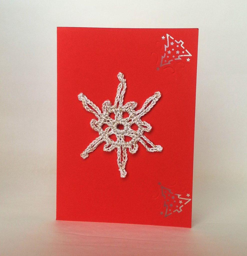 """Biglietto auguri Natale/Feste """"Cristallo stellare"""" (art.42)"""