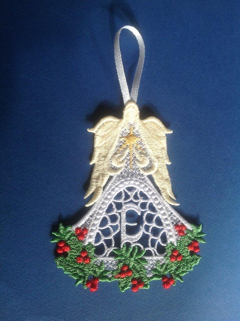 Decorazioni albero Natale - Angelo con iniziale
