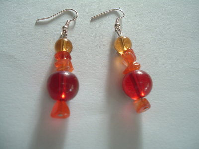 Orecchini Indian Style Red Orange