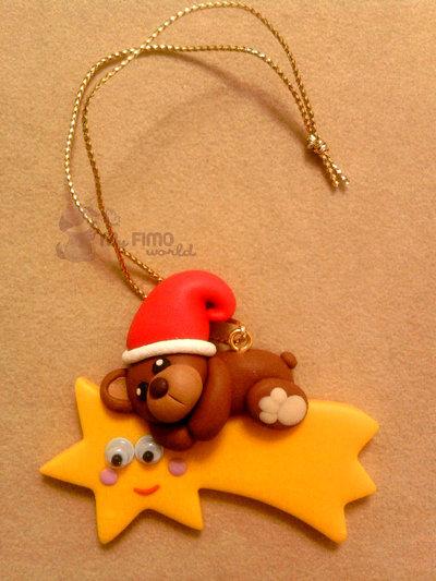 Decorazioni Natale stella cometa fimo