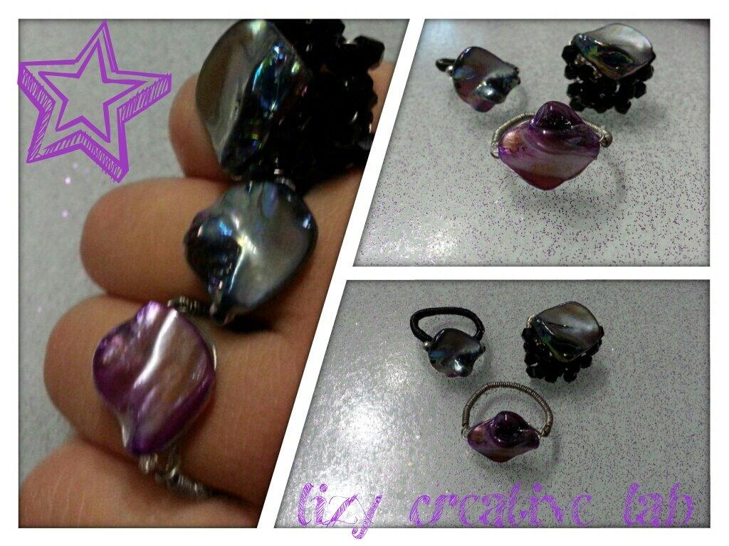 Anello pietra viola cangiante