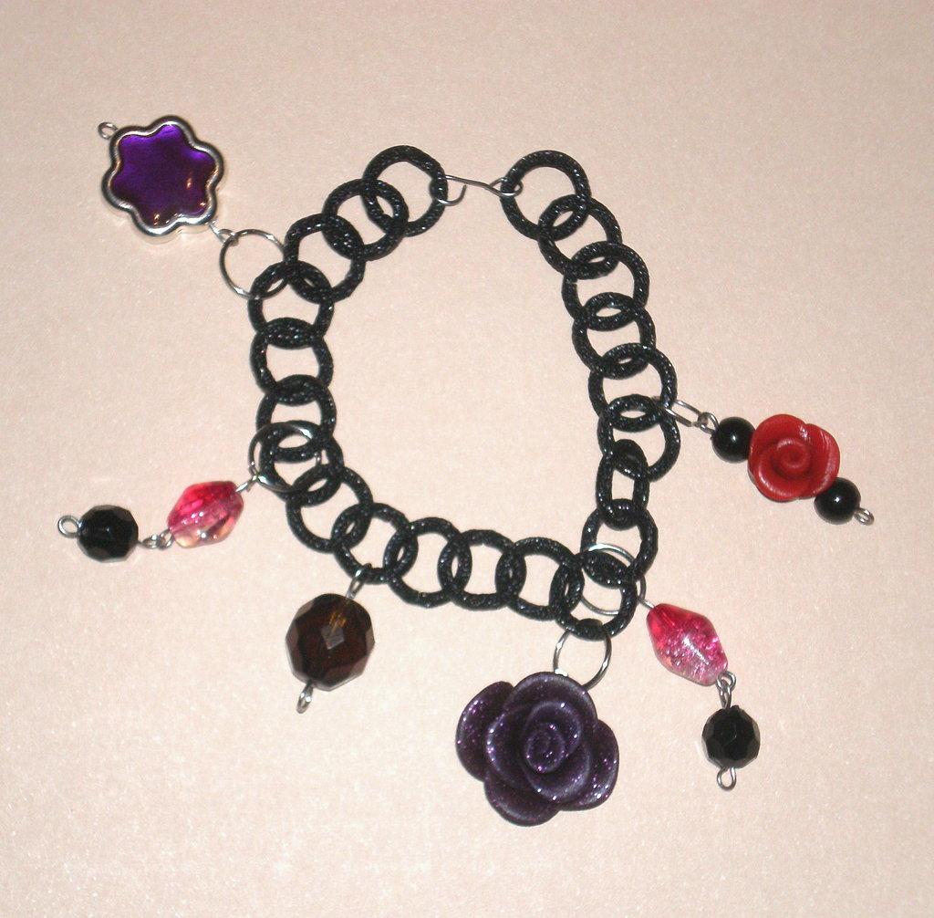 Braccialetto purple rose
