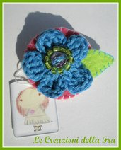 Spilla fiore feltro - 2