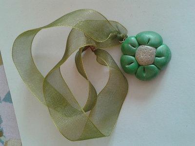Collana margherita verde
