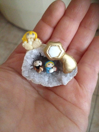 Presepe in miniatura nel Geode