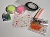 Idea Regalo: Kit per Nail Art^^ - Rainbow Mix 1 - confezione regalo (10 pz)