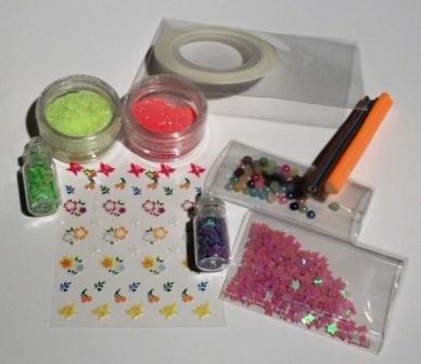 Idea Regalo: Kit per Nail Art^^ - Rainbow Mix 2 - confezione regalo (10 pz)