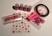 Idea Regalo: Kit per Nail Art^^ - Pink! - confezione regalo (10 pz)