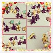 gingerbread Christmas earrings
