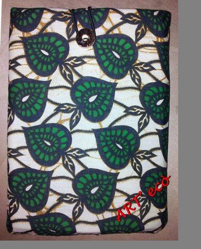 Porta iPad e Tablet - Foglie verdi