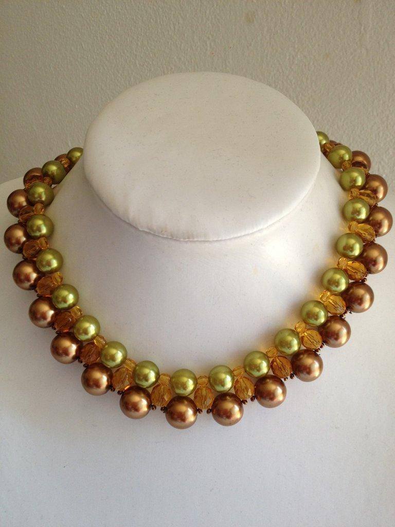 Collana girocollo con perle di Bohemia
