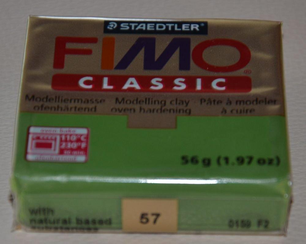 FIMO CLASSIC VERDE FOGLIA N. 57