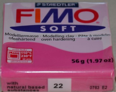FIMO SOFT ROSSO LAMPONE N. 22