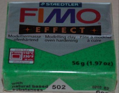 FIMO EFFECT VERDE GLITTER N. 502