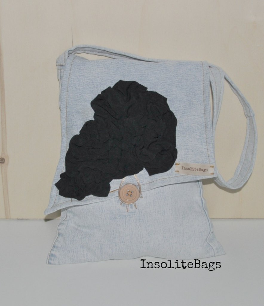 Denim fabric bag