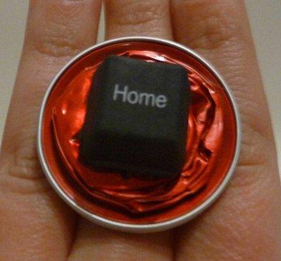 Coffee ring button - Anello con cialde Nespresso e tasto Home