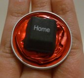 Coffee ring button - Anello con cialde Nespresso e tasto Home