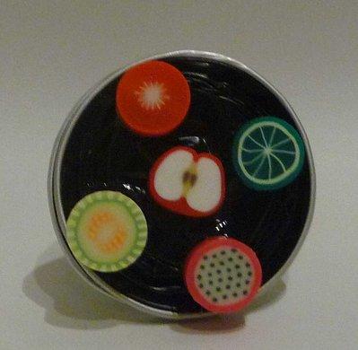 Coffee ring fruit - Anello con cialde Nespresso e frutta colorata